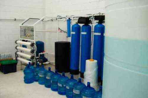 Muestra de proyección financiera del plan comercial de agua embotellada