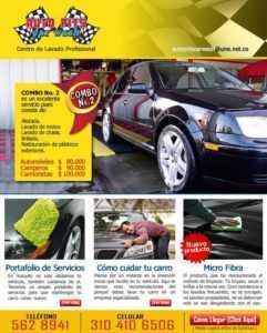 Una muestra de plantilla de plan de marketing comercial para lavado de autos